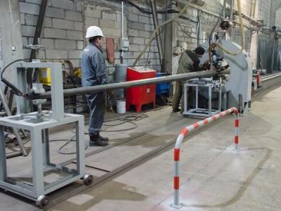 Установка для сварки одношовных опор ЛЭП и мачт освещения малого диаметра в г. Новосибирск