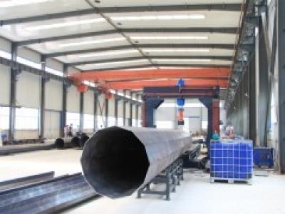 Линия производства опор освещения пригодна для изготовления конических столбов от 90 мм до 650 мм «под ключ»